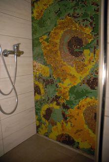 Mozaika artystyczna - pod prysznic